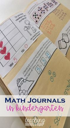 I love this concept of using math journals for my kindergarten students to show problem-solving in math. Students represent their ideas in pictures, numbers or words to show a variety of concepts including number sense, mental math, patterning, graphing and much more!