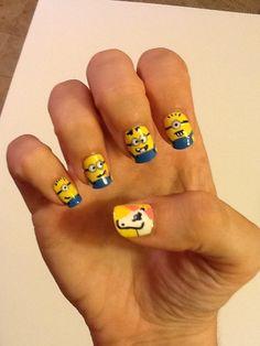 despicable me unicorn nails - photo #22