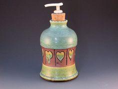 Soap Dispenser Hearts Dispenser Pump Ready To Ship by potmaker