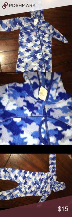 NWT LLBEAN Blue Camo Fleece Outerwear 12-18 month NWT LLBEAN Fleece Outerwear Trademark Fleece Coverall Blue Camo    Smoke Free and Pet Free Home L.L. Bean Jackets & Coats