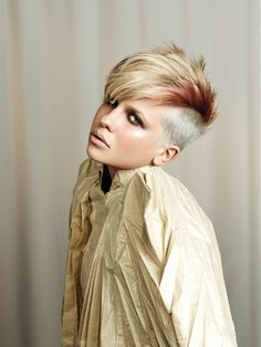 Latest Short Mohawk Hairstyles For Women 2012 possible-hairstyles-colors-and-looks-for-future-ex Short Hair Mohawk, Short Asymmetrical Haircut, Mohawk Hairstyles For Women, Asymmetrical Hairstyles, Very Short Hair, Short Hair Cuts For Women, Unique Hairstyles, Girl Mohawk, Rock Hairstyles