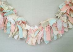 peach and mint fabric banner