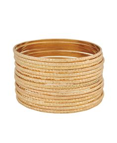 Every Fashion Girl...MUST HAVE THIS!!!... Dimpled bangle set from Forever21