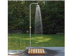 Check out the Larch-wood Shower Platform in Faucets & Fixtures, Outdoor Showers & Tubs from Manufactum for Outdoor Pool Shower, Solar Shower, Outdoor Garden Furniture, Outdoor Decor, Rustic Outdoor, Outside Showers, Garden Shower, Outdoor Bathrooms, Better Homes And Gardens