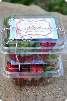 """hand picked strawberries - """"I couldn't have picked a better teacher"""""""
