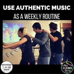 15 Ways to Use Authentic Music in Spanish Class Welcome to the Secondary Spanish Space! We are a group of Spanish teachers who have c. Learning Spanish For Kids, Spanish Teaching Resources, Spanish Activities, Spanish Language Learning, Listening Activities, Teaching Ideas, Class Activities, Teacher Resources, Spanish Songs