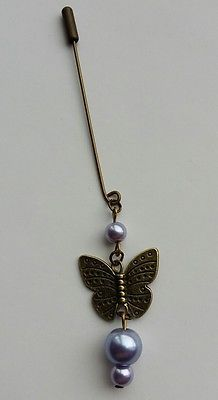 ❤6Cm Long Vintage Inspired Dangly Pearl&Butterfly Hijab Pin❤ Lavender Hijab Pins, Modest Fashion, Brooch Pin, Brooches, Belly Button Rings, Vintage Inspired, Shawl, Jewelery, Lavender