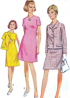 1960s Dress Pattern and Jacket Simplicity 7450 A by paneenjerez, $12.00