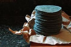 Tortillas Azules (blue corn tortillas) México.