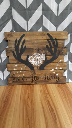 Love you Deerly Sign di BeasByDesign su Etsy