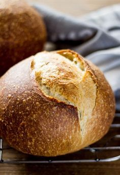 A step-by step tutorial on how to make sourdough bread at home. Crispy crust, soft & chewy interior. Baked in a Dutch oven.