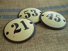 Enamel Numbers - I just need them larger for house numbers