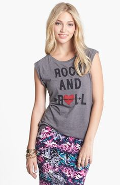 Wyldehart 'Rock and Roll' Tee (Juniors) available at #Nordstrom