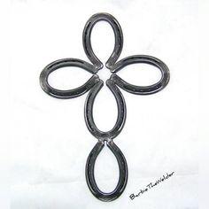 Welding Project horseshoe cross welded metal art sculpture