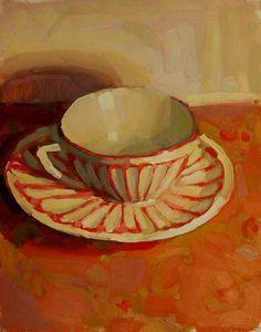 """""""Orange Spice""""  Original Oil On Canvas, 10"""" x 8"""" . Jennifer Diehl"""