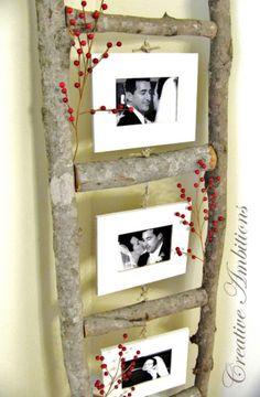 foto's en een ladder