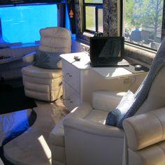 PREVOST Interior Gaming Chair, Coaches, Motorhome, Luxury Homes, The Row, Desk, Interior, Furniture, Home Decor