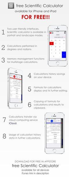 free Scientific Calculator app for iPad and iPhone https://itunes.apple.com/app/id1111016482