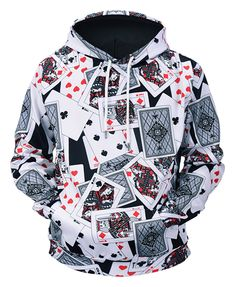 b488b71438 Pizoff Unisex Funny Print Hoodie Coat Long Sleeve With Front Pocket  Y1901-06 Cool Hoodies