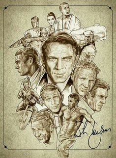 Steve McQueen by NachoCastro on DeviantArt Celebrity Caricatures, Celebrity Drawings, Boris Vallejo, Vintage Hollywood, Classic Hollywood, Steeve Mcqueen, Cinema Tv, Cultura Pop, Classic Films