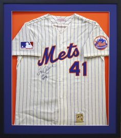 NY Mets Authentic MLB jersey signed.