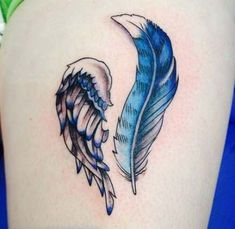 Ideas Tattoo Bird Feather Blue Jay For 2019 Trendy Tattoos, New Tattoos, Print Tattoos, Small Tattoos, Cool Tattoos, Tatoos, Feather Tattoos, Forearm Tattoos, Flower Tattoos