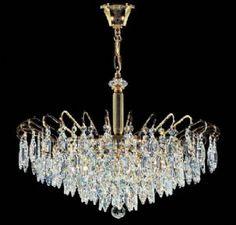 Kolarz Art Deco 6 Light Crystal Chandelier - C311.86/60  - Luxury Lighting
