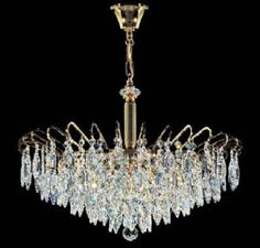 Kolarz Art Deco 6 Light Crystal Chandelier - C311.86/60  - Luxury Lighting