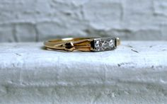 Fantastic Vintage 14K Yellow Gold Diamond Wedding Band by #GoldAdore, $245.00