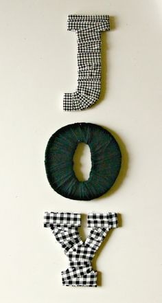 Fabric Wrapped Holiday Letters.