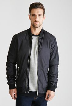 I have a mighty need for a bomber jacket (this comes in black, navy, and olive and they all look good)