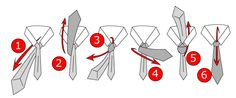How to Tie a Tie – Easy Step-by-Step Instructions Don't know how to tie a tie? These easy step-by-step instructions will show you four basic tie knots. Windsor Tie Knot, Half Windsor, Tie A Tie Easy, Tie Knot Styles, All Tied Up, Long Ties, Man Up, Tie Knots, Step By Step Instructions