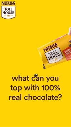 Nestle Toll House Morsels make the perfect addition to any snack or dessert reci. Ads Creative, Creative Video, Creative Advertising, Food Graphic Design, Ad Design, Branding Design, Social Media Ad, Social Media Design, Cookie Pizza