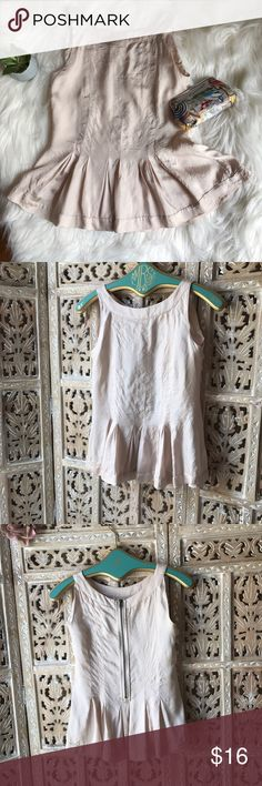 """H&M lovely top in blush size 4 H&M top in blush size 4. Across chest about 16"""". Top length about 24"""". Zipper at back. The color is truly gorgeous. The top is figure flattering and will dress up any outfit. Very good condition H&M Tops Blouses"""