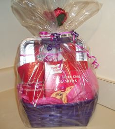 Mother's Day Basket -filled with brownie & cookie mix, let the kids bake with Mom or Grandmom!