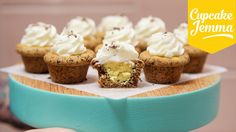 How to Make Chocolate Chip Cookie Cup Cupcakes   Cupcake Jemma - YouTube