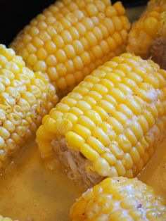 This is the easiest way to cook frozen corn on the cob! You'll be repeating this. - This is the easiest way to cook frozen corn on the cob! You'll be repeating this fast slow cooker - Slow Cooker Recipes, Crockpot Recipes, Crock Pot Corn, Buttered Corn, Fast And Slow, Most Delicious Recipe, Corn On Cob, Cheap Dinners, Frozen Corn