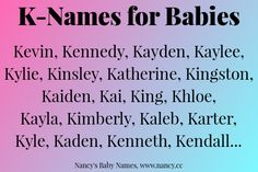 K-Names for Babies