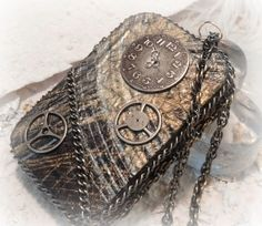Steam Punk Altered Tin Credit Card Case by AlteredStateofTin, $29.95
