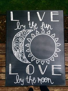 Live by the Sun Love by the Moon Canvas by RightBrainedCanvas