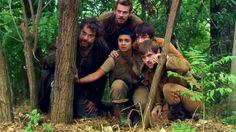 Little John, Alan-A-Dale, Djaq, Will Scarlet, Robin Hood. BBC Robin Hood.