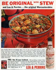 Be original with stew: Festive stew recipe (1965)