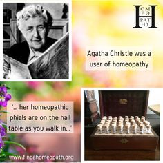 Agatha Christie had her own homeopathic kit which is on show in the foyer of Greenway House, England. Homeopathic Remedies, Agatha Christie, Homeopathy, Work On Yourself, Foyer, Twitter Sign Up, Novels, Childhood, England