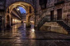 Salamanca In The Night   Plaza Mayor   Spain   Photo By Isidoro M