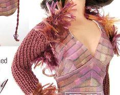 Knitting pattern for 11 1/2 doll Barbie: Lacy par DBDollPatterns