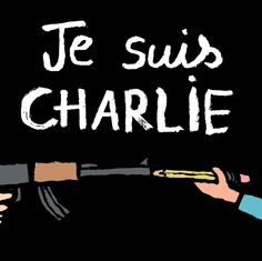 "French artist Jean Jullien wrote, ""I am devastated by what happened at Charlie Hebdo. Freedom of speech is a universal right and a worthy cause. / Cartoonists react to Paris attack"