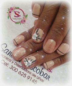 Mediterranean Pasta, Beautiful Nail Art, Easy Nail Art, Summer Nails, Flower Designs, You Nailed It, My Nails, Nail Designs, Nail Polish