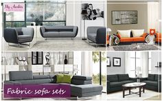 Furniture is elemental for a home which, not only bring functionality to it but, also adorn its glory and charm. Revamp the aesthetics of both your residential and commercial spaces with magnificent and stylish #fabricsofa sets showcased by My Aashis, the reputed #onlinestore of USA.
