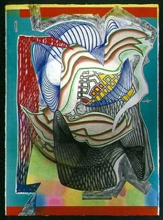 Frank Stella, The Funeral - Dome from the Moby Dick Dome Series Hard Edge Painting, Action Painting, Frank Stella Art, Contemporary Art Artists, Modern Art, Post Painterly Abstraction, Monochrome Painting, Cardboard Sculpture, Geometric Sculpture