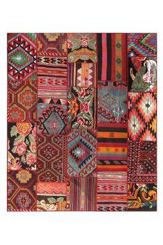 vintage patchwork kilim  rug...